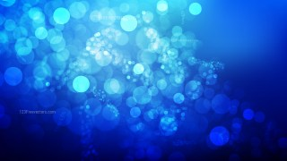 Abstract Black and Blue Blurry Lights Background Image