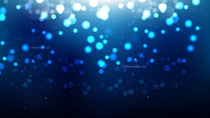 Abstract Black and Blue Bokeh Lights Background Graphic