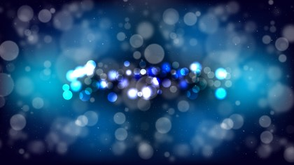Abstract Black and Blue Defocused Lights Background Design