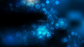 Abstract Black and Blue Bokeh Background Illustrator