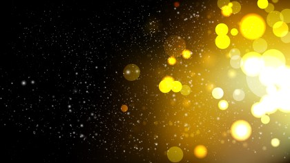 Black and Gold Blurred Bokeh Background