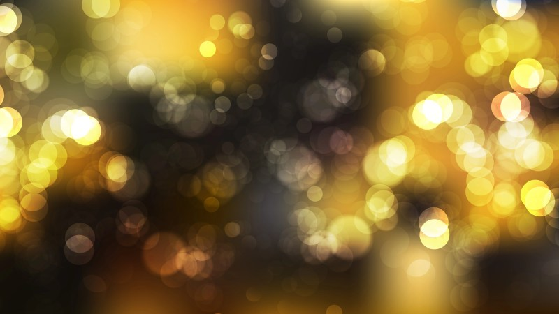 Black and Gold Blurry Lights Background Vector Illustration