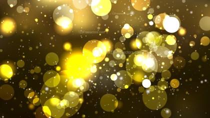 Black and Gold Defocused Lights Background