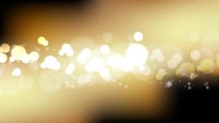 Black and Gold Bokeh Defocused Lights Background