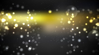 Black and Gold Bokeh Defocused Lights Background Vector Illustration