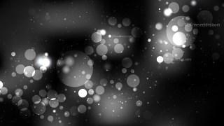Black and Grey Bokeh Lights Background