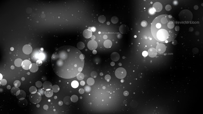 Black and Grey Bokeh Lights Background