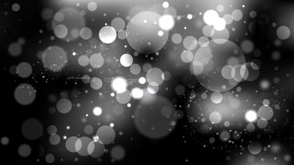 Black and Grey Bokeh Defocused Lights Background Vector Image