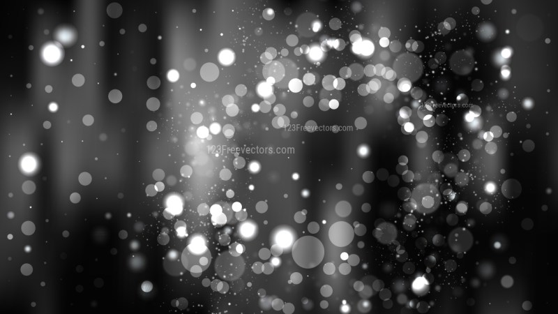 Abstract Black and Grey Blurred Lights Background
