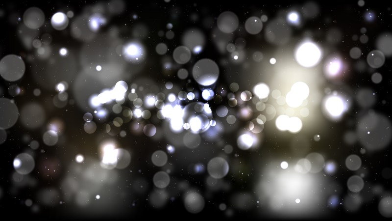 Black and Grey Defocused Lights Background Design