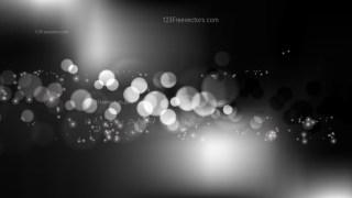 Black and Grey Bokeh Defocused Lights Background Image