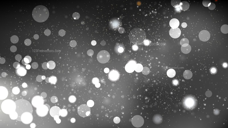 Abstract Black and Grey Bokeh Lights Background Vector Graphic