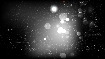 Abstract Black and Grey Blurry Lights Background