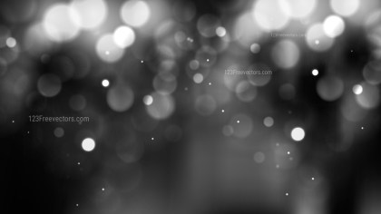 Abstract Black and White Blurry Lights Background