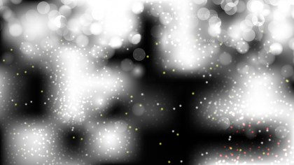 Abstract Black and White Bokeh Defocused Lights Background Image