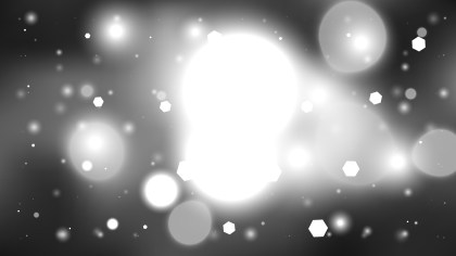 Abstract Black and White Defocused Lights Background Graphic