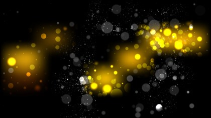 Black and Yellow Blurred Lights Background Graphic