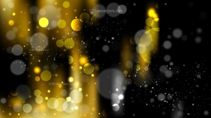 Abstract Black and Yellow Defocused Background Image