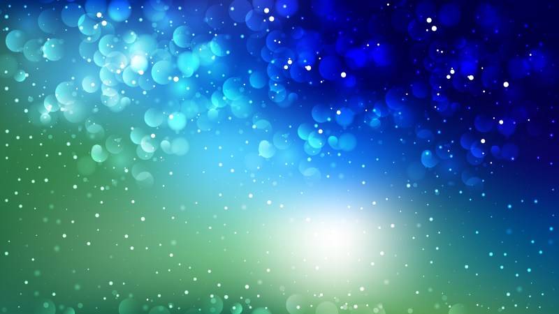 Abstract Black Blue and Green Bokeh Lights Background