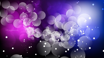 Abstract Black Blue and Purple Bokeh Lights Background