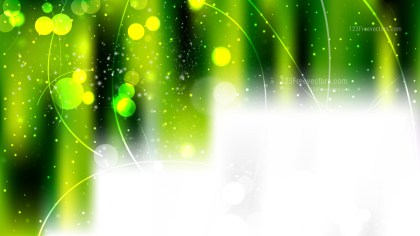 Black Green and Yellow Bokeh Background Vector Graphic
