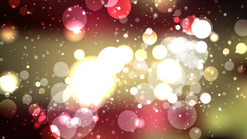 Abstract Black Red and Gold Bokeh Background