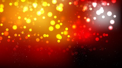 Abstract Black Red and Orange Bokeh Lights Background