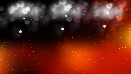 Abstract Black Red and Orange Bokeh Lights Background Vector