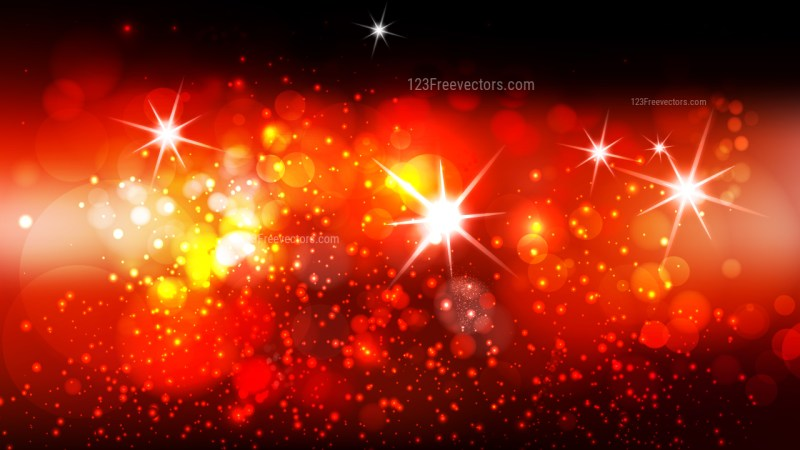 Abstract Black Red and Orange Defocused Lights Background Graphic