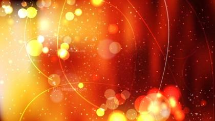 Black Red and Orange Bokeh Defocused Lights Background Vector Illustration