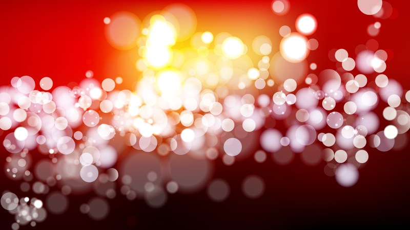 Abstract Black Red and Yellow Blurred Lights Background