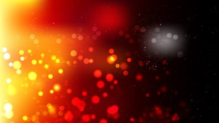 Abstract Black Red and Yellow Blurred Bokeh Background