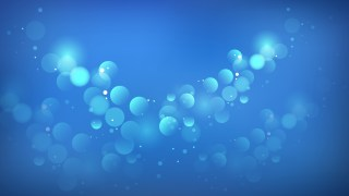 Abstract Blue Bokeh Defocused Lights Background