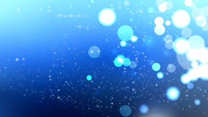 Abstract Blue Blurry Lights Background Image