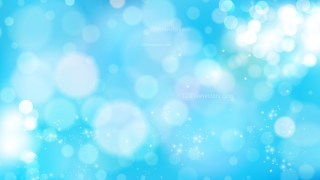 Abstract Blue Blurred Bokeh Background