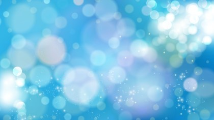 Abstract Blue Blurry Lights Background