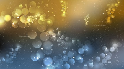 Blue and Gold Blurred Bokeh Background