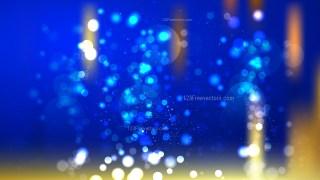 Blue and Gold Blurred Bokeh Background Illustration