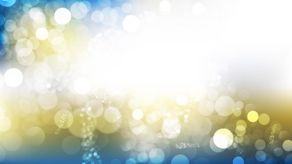 Blue and Gold Blurred Lights Background Design