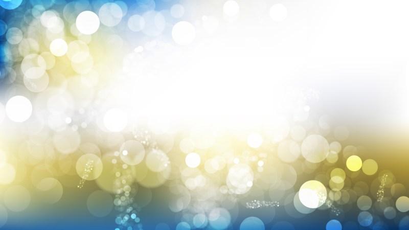 Blue and Gold Blurred Lights Background Design