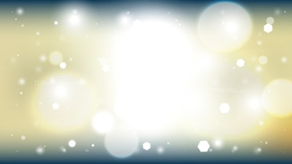 Blue and Gold Bokeh Background Vector Graphic