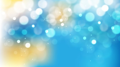 Blue and Gold Bokeh Lights Background Illustrator