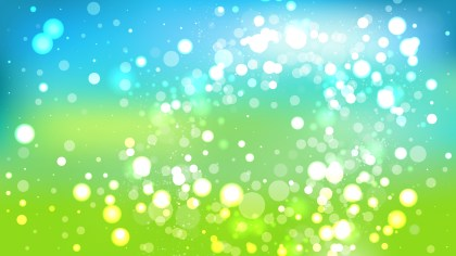 Blue and Green Blur Lights Background Design