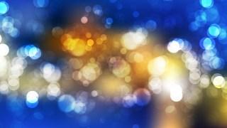 Blue and Orange Blur Lights Background Graphic