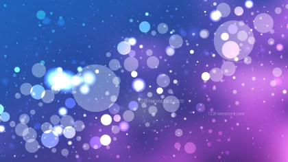 Abstract Blue and Purple Blur Lights Background Vector Graphic