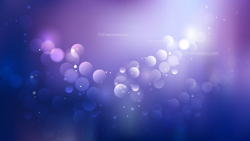 Blue and Purple Bokeh Lights Background
