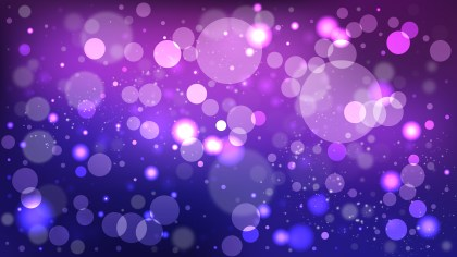 Abstract Blue and Purple Blurred Bokeh Background