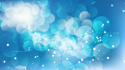 Blue and White Bokeh Lights Background Graphic