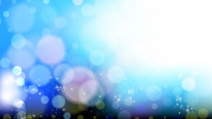 Blue and White Defocused Lights Background Design
