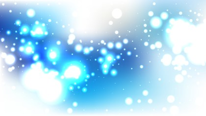 Blue and White Blur Lights Background Vector